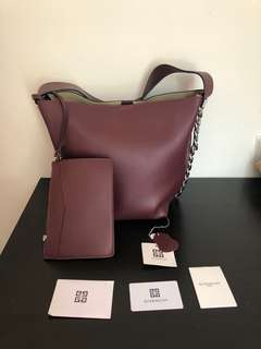 Givenchy Infinity Bucket Bag in Burgundy