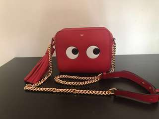 Anya Hindmarch Red Eyes Crossbody Bag