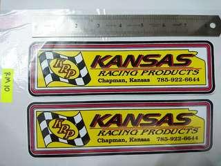 Stiker Kansas racing 🏁