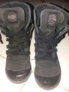 Original PALLADIUM BLACK BOOTS for toddler UK 10 1/2 US 11 Eur 28 1/2