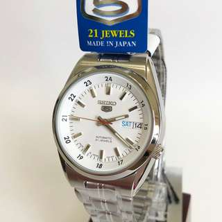 Japan Made Seiko 5 Men's Automatic Day Date Watch SNK559J1