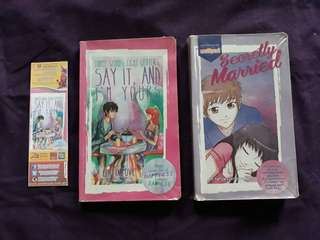 Pop Fiction Books (Set of 2: Three Words, Eight Letters, Say It and I'm Yours; Secretly Married)