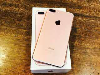 Forsale Iphone 7plus Rosegold Factory Unlocked Complete package 99% smoothness