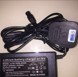 Chargers for 36v lithium escooter or ebike