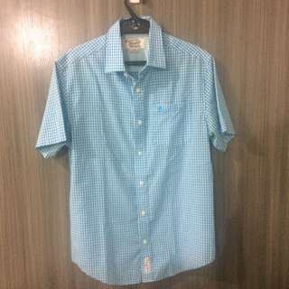 Light Blue Plaid Polo