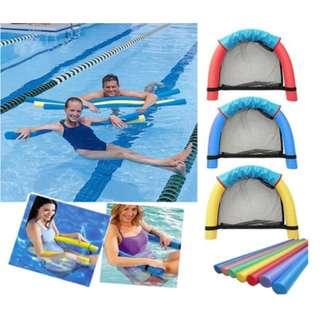 [水上浮椅游泳裝備] 大人小朋友都岩用,具有承托力,坐在網兜時會浮起,輕便攜帶,游泳玩樂必備裝備