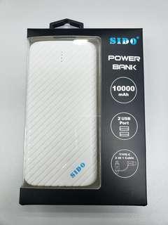 SIDO Power Bank 10000mAh