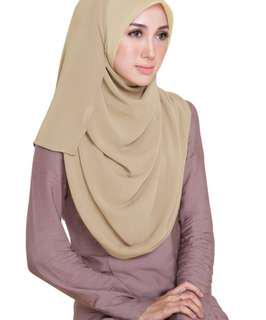Tudung Ruffle - chicnones olive