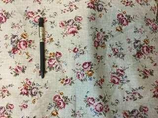 英式玫瑰花厚棉布