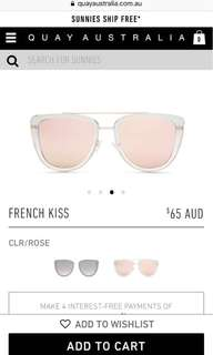 Quay French Kiss Sunglasses and Trifold Case