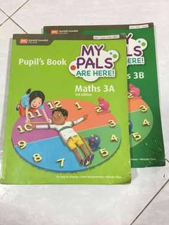 P3 Maths textbook (My Pals) 3A & 3B
