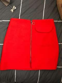 Dotti red skirt