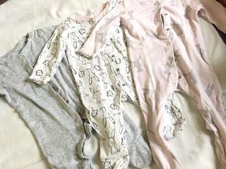 Mothercare sleepsuits (3-6 mos)
