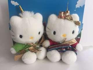 Sanrio vintage Hello Kitty 毛公仔 wedding of the world 2000