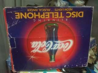 全新可樂有光有音樂电話有盒