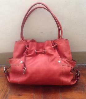 Fossil leather hobo bag - authentic free shipping