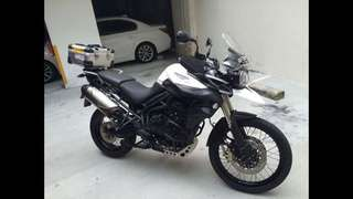 Motorbike Triumph Tiger 800XC Sport Tourer