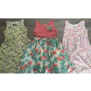 Set of 3 Pre-loved Dresses for Girls
