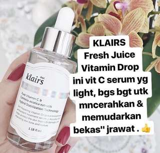 KLAIRS freshly juiced vitamin c drop supple preparation toner unscented murah serum essence