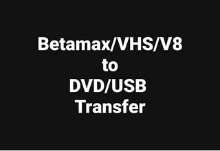Videotape to DVD/USB Transfer