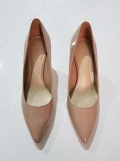 Charles and keith nude heels