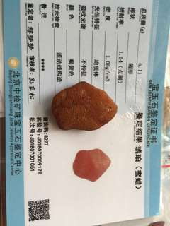 Amber raw stone for pendant 琥珀蜜蜡原石吊坠 rare! With certification!