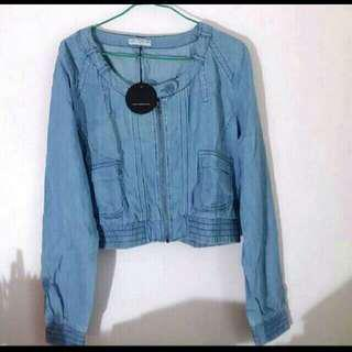 Bn Australia cotton on Denim zipped jacket