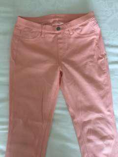 Uniqlo pinkish peach 3/4 jeans