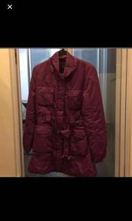 Purple long winter jacket