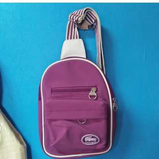 Lacoste backpack purple