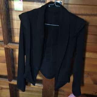 Structured Black Jacket with shoulder detail