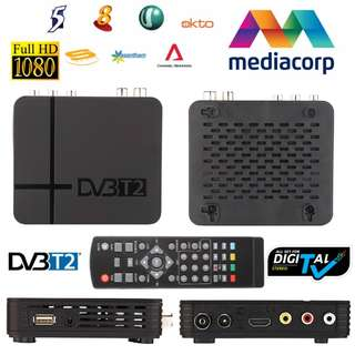 $29 BRAND NEW 2018 IMPROVED MODEL! DVB-T2 K2 Mediacorp Digital Receiver MSD7T01 HD DVB T2 Set Top TV Box - SIM LIM/HARVEY NORMAN/COURTS Retail Price S$89 but get it at only S$29 from me! Singapore + Malaysia TV1, TV2, TV3
