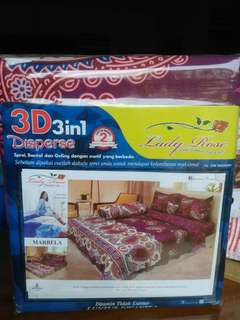 Sprei Lady Rose ukuran 180x200