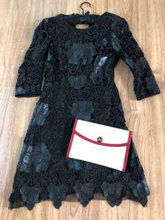 Zara lace and leather dress