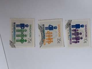 Singapore used stamp set.
