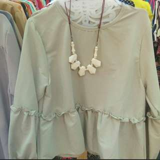 Greent Nude Blouse