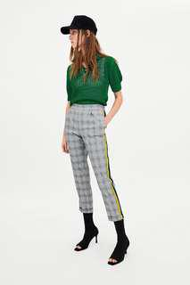 Zara Trousers With Side Bands