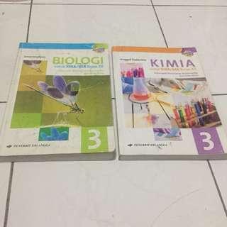 Paket SMA Kelas 12 Erlangga Kimia Biologi