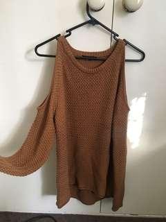 Brown Knit