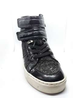 Aldo Black Glitter High Top Sneakers