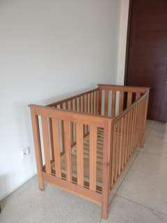 Mother care baby cot + spring mattress 1.2jt + baby bumper free 600.000