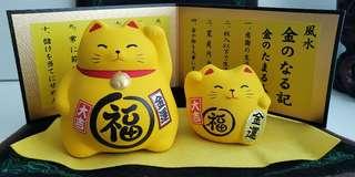 日本手信招財貓 一對 連盒 made in Japan