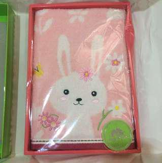 Cute Bunny Rabbit Face Towel for Kids, Ladies, Women