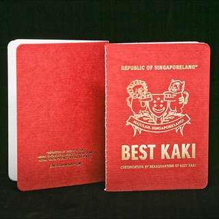 Singlish 'Passport'! BEST KAKI