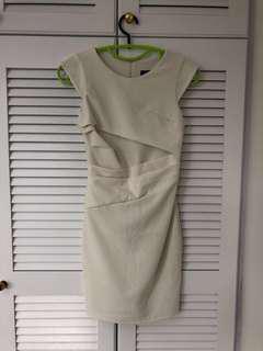 Topshop pearl white dress size euro 34