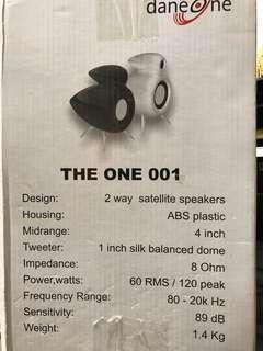 Brand new Dane One designer satellite speakers