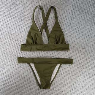 Army Green 2 pc. Swimsuit