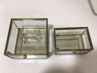 🚚 飾品 首飾珠寶盒 一大一小一起