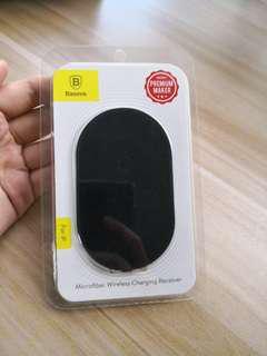 Brand new! Baseus microfiber wireless charging receiver / adaptor / converter for iphone