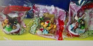可口可樂 絕版掛飾共7個 - 唐老鴨, 米奇米妮, 小熊維尼, 布魯托